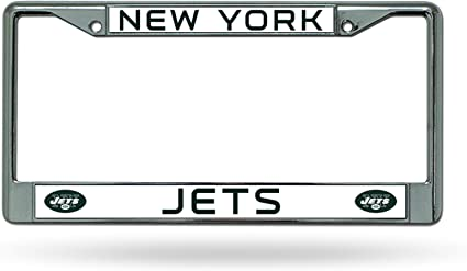 NEW YORK JETS CHROME METAL LICENSE PLATE FRAME NEW /& OFFICIALLY LICENSED