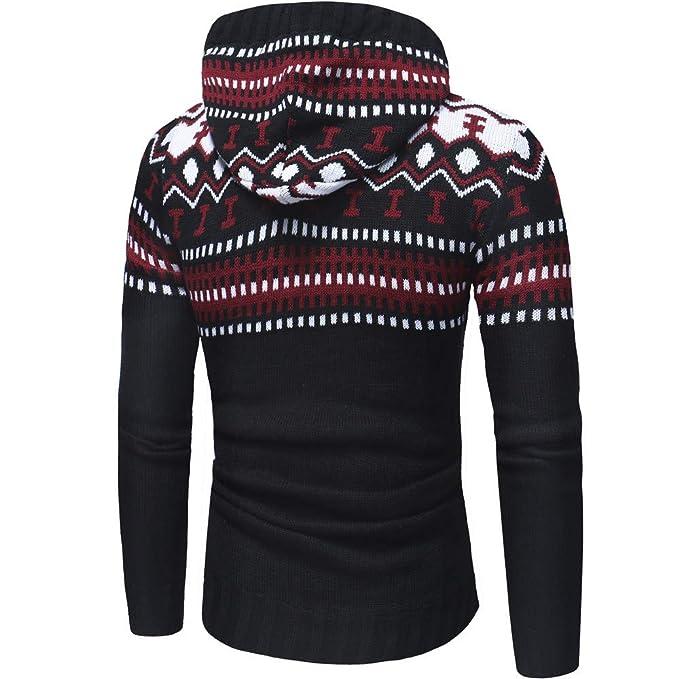 Sudadera con Capucha otoño Invierno de Hombres Suéter de Punto Chaqueta de Punto Abrigo con Capucha Chaqueta suéter Outwear Camisetas Amlaiworld: Amazon.es: ...