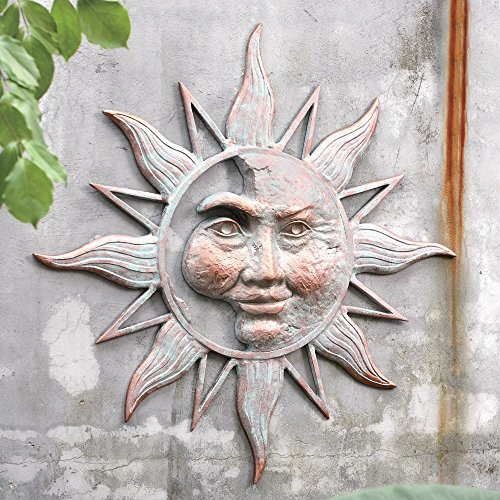 SPI Home 33163 Half Face Sun Wall Plaque (Half Patio Wall)
