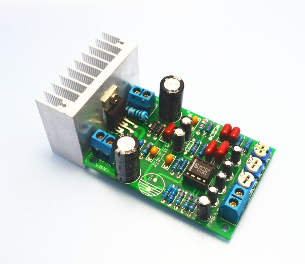 1pcs Lm1875 Mono 30w Subwoofer Audio Power Amplifier 20w Using Board Treble Bass Volume Adjust Home Theater