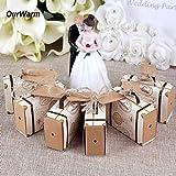 Hondex Gift Boxes 50pcs Mini Suitcase Favor Boxes