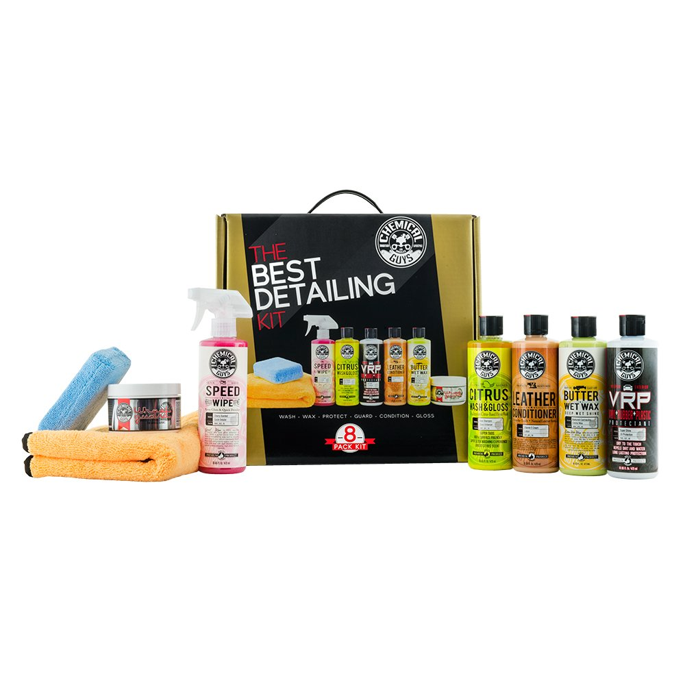 Chemical Guys HOL800 The Best Detailing Kit, 8 Items Including (5) 16 oz. Products