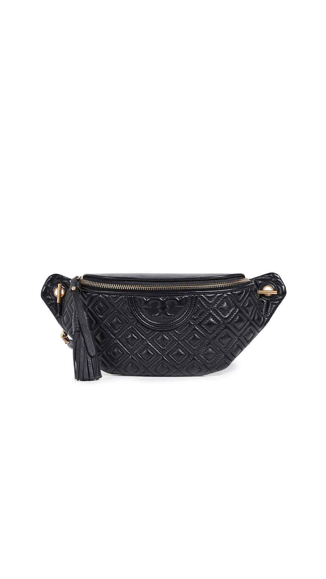 Tory Burch Women's Fleming Belt Bag, Black, One Size