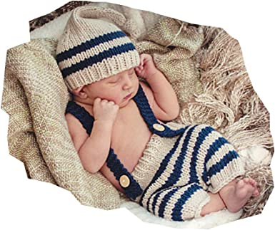 Newborn Baby Girls Boys Crochet Knit Costume Photo Photography Prop Outfits Sets