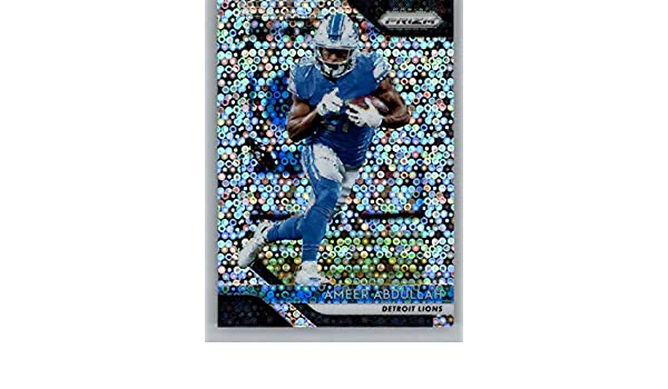 Amazon.com: 2018 Panini Prizm Prizm Disco Football #135 Ameer Abdullah Detroit Lions Official NFL Trading Card Exclusive Parallel to Blasters: Collectibles ...