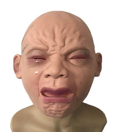 Emorias 1 Pcs Mascara Latex Bebé Llorando Terror Prop Casa Embrujada Disfraz Mascarada Careta Respirable Cospleyarse