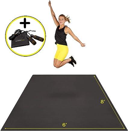 Amazon Com Premium Extra Large Exercise Mat 8 X 6 X 7mm