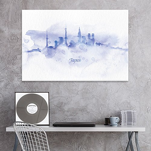 Impressionism Watercolor Style City Landscape of Japan Gallery