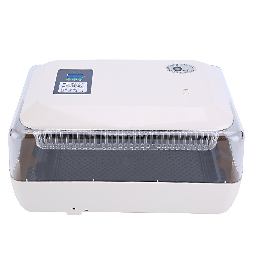 Egg Incubator, Incubator Hatcher-24 Digital Clear Egg Turning Incubator Hatcher Temperature Control for Chick Duck Goose Egg Hatching by Zerone