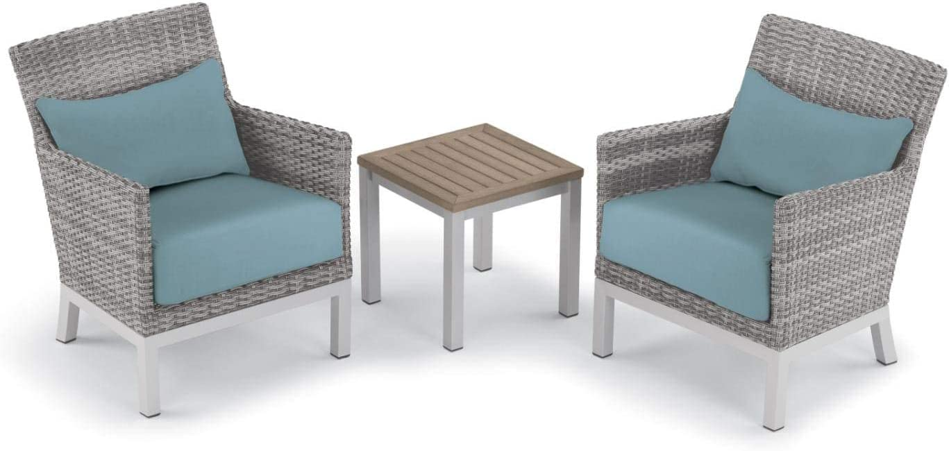 Oxford Garden 5589 Argento & Travira Furniture Set, Powder Coat Flint