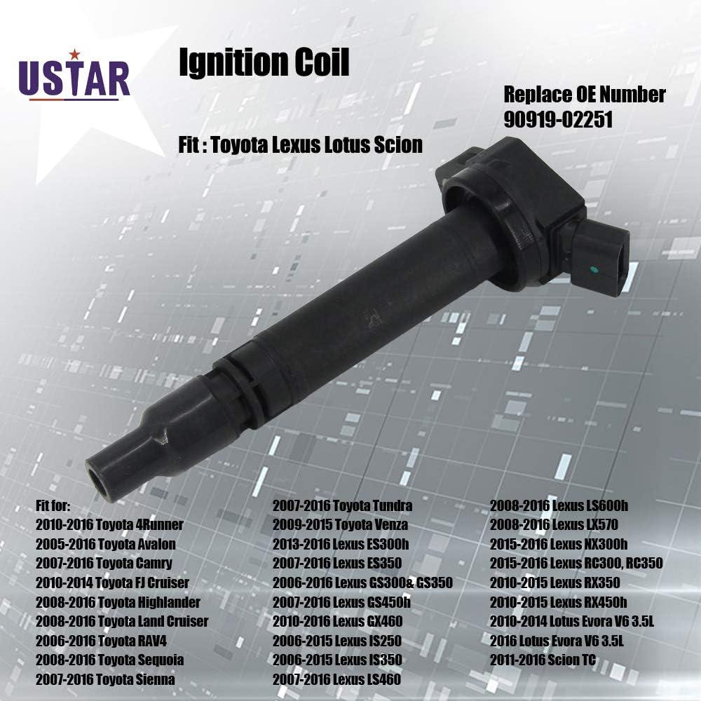 Ignition coil 90919-A2005 Fit Toyota Land Cruiser RAV4 Tundra Lexus Scion tC New