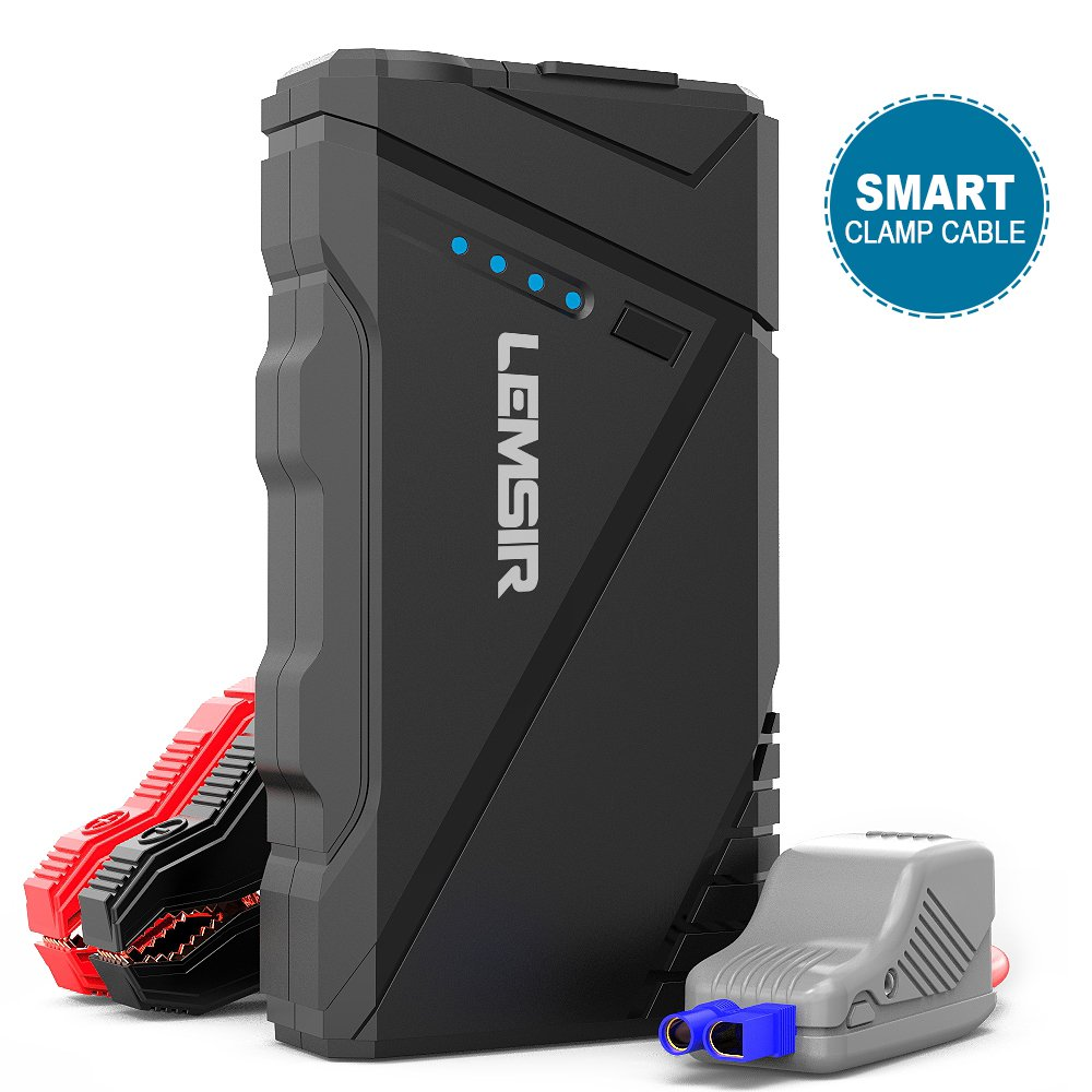 Lemsir L6 800A Peak Car Jump Starter (up to 7.2L Gas/6.0L Diesel Engine, 12V Portable Auto Battery Booster, IPX5 Waterproof Power Pack with QC 3.0)