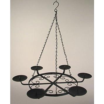 Kronleuchter mit Kerzen Laterne Ring x 6 Great Kerze schwarz Metall ...