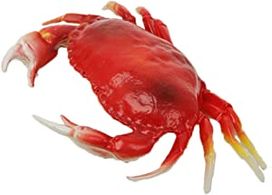 WAYBER Lifelike Artificial Crab, 13 x 9 inch Large Simulated Plastic Crab Model for Home Decor, Restaurant Display, Stage Drama & Photography Prop