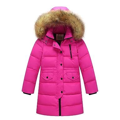 552716647 DNLSJ Kids Coat Winter Big Girls' Down Puffer Jacket Parka Hood Outwear  Outfit Long Thick Warm Windbreaker