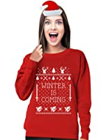 TeeStars Women's - Winter Is Coming Ugly Christmas Sweater Sweatshirt