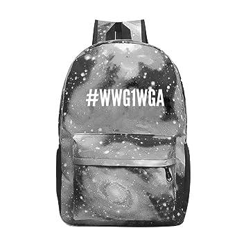 ec6db8a888a1 Amazon.com: COBOBT #WWG1WGA QAnon Team Q Galaxy School Backpacks ...