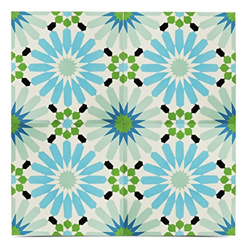 Moroccan Mosaic & Tile House CTP54-06 Alhambra 8x8 inch Handmade Cement Tile in Multicolor (Pack of 12) -