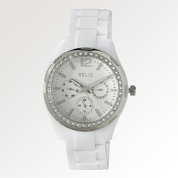 Relic Rel-6202 ZR15551 - Reloj para Mujeres Color Blanco