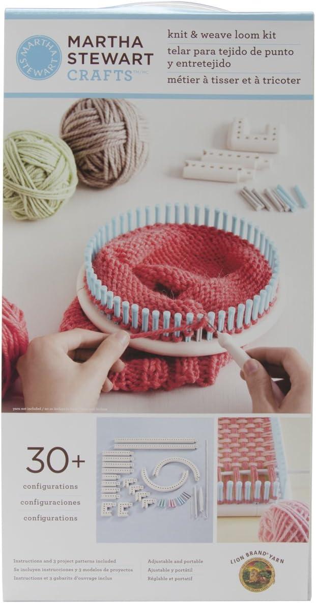 Lion Brand Yarn Company 1-Piece Martha Stewart Crafts Knit and Weave Loom Kit