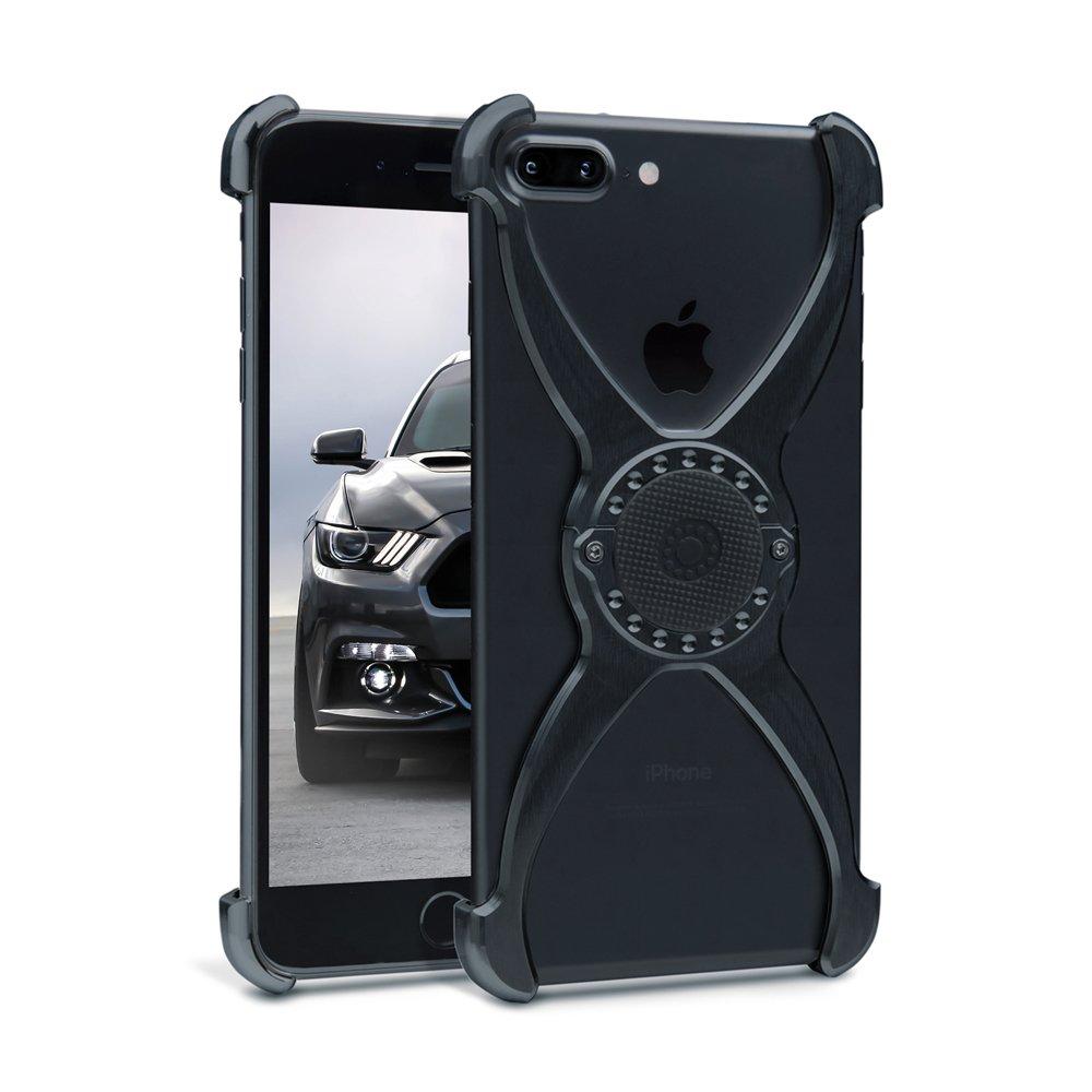 best sneakers 11f49 ca329 Rokform Predator iPhone 8 Plus Case / iPhone 7 Plus Case Slim Magnetic  Aircraft Aluminum Phone case & universal magnetic car mount (BLACK)