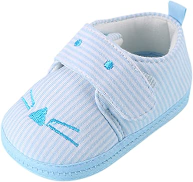 Infant Toddler Baby Girl Cute Cat Soft Sole Crib Shoes Prewalker To Newborn NEW.