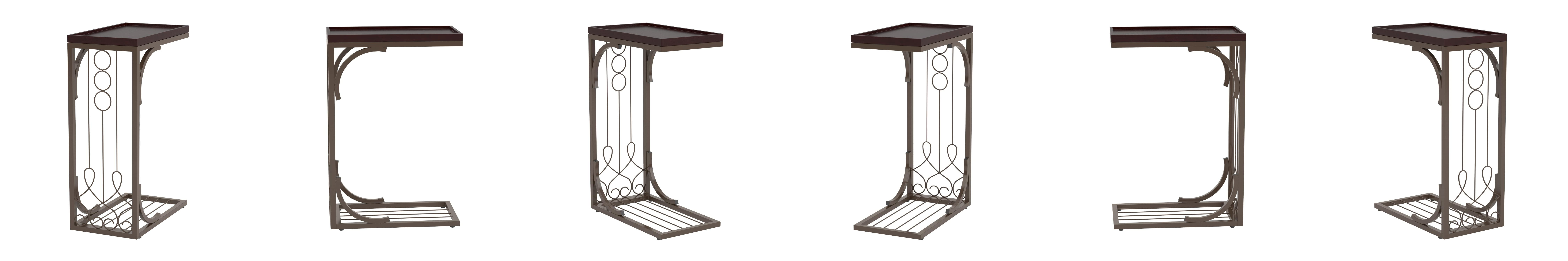 Amazon coaster 900280 snack table with burnished copper base amazon coaster 900280 snack table with burnished copper base brown kitchen dining geotapseo Gallery