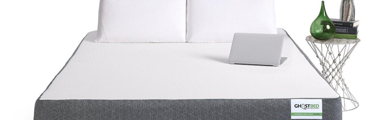 GhostBed colchón de Espuma Hecho a Mano, Europeo, Gel con Efecto Memoria, rayón, Blanco, 27 cm, poliéster, Blanco, Doble pequeño (120 x 190 cm): Amazon.es: ...