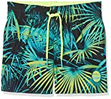 O 'Neill Thirst to Surf Boardshorts Board Shorts Swimwear Boys Swim Shorts, Boys', Thirst to surf boardshorts, Black Aop W/Green