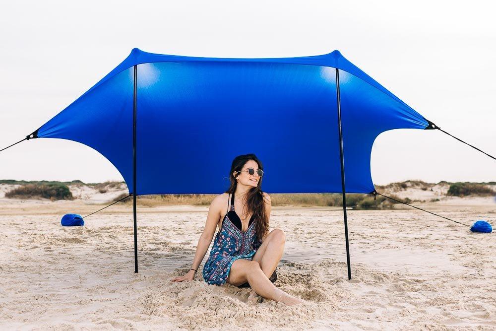Be Cool tragbares Solutions Sonnenschutz mit Sandanker, tragbares Cool Baldachin-Sonnensegel fdbebe