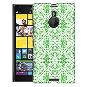 Nokia Lumia 1520 Case, Slim Fit Snap On Cover by Trek Victorian Gothic Green on White Case