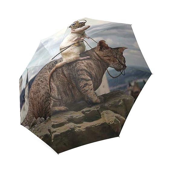 Customized unique hoy que caza dragones plegable lluvia paraguas/sombrilla/ paraguas de sol: Amazon.es: Deportes y aire libre