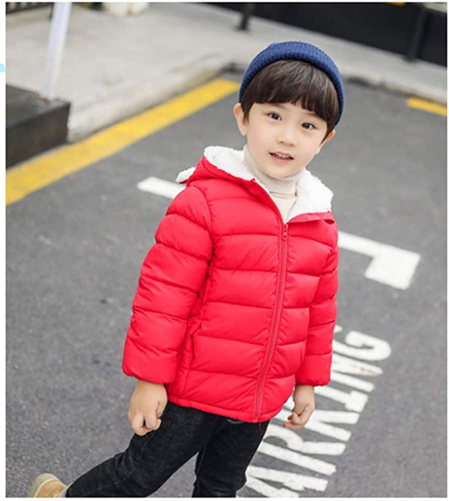 Toddler Baby Boy Hooded Down Jacket Kid Girl Winter Puffer Coat Snowsuit Outerwear 1-5t