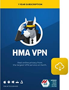 HMA VPN | Privacy Protection Service | Win, Mac, iOS, Android, Linux, Routers | 5 Devices, 1 Year [Download]