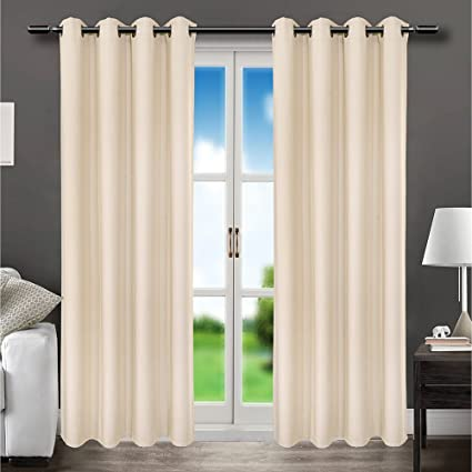 Elegant Room Darkening Blackout Curtains UV Window Curtain