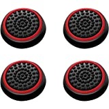 Insten [2 Pair / 4 Pcs] Wireless Controllers Silicone Analog Thumb Grip Stick Cover, Game Remote Joystick Cap Compatible with
