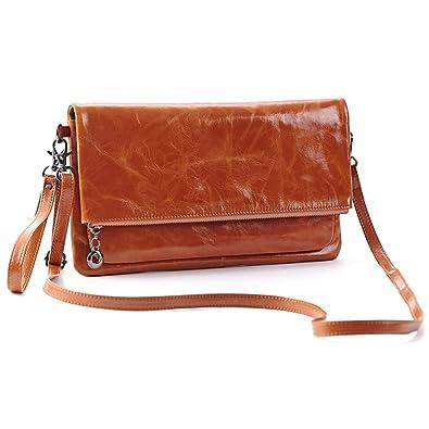 Amazon.com: Womens Genuine Leather Clutch Handbags [12 Card Slots ...