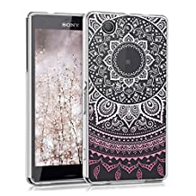 kwmobile Crystal TPU Silicone Case for Sony Xperia Z3 Compact in Design Indian sun dark pink white transparent