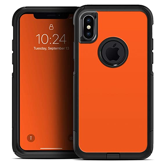 b8608b37b6688 Amazon.com: Solid Burnt Orange - Skin Decal Kit for The iPhone X or ...