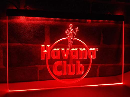 Havana Club Ron LED luz de neón Sign Man Cave a218-r: Amazon ...