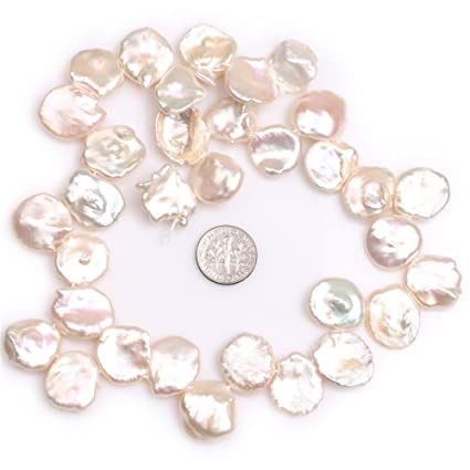 Free Shipping Cultured Coin Freshwater Pearl Beads Flat Round Natural Pearl Beads For Bracelets Necklace Diy Jewelry Making Beads & Jewelry Making