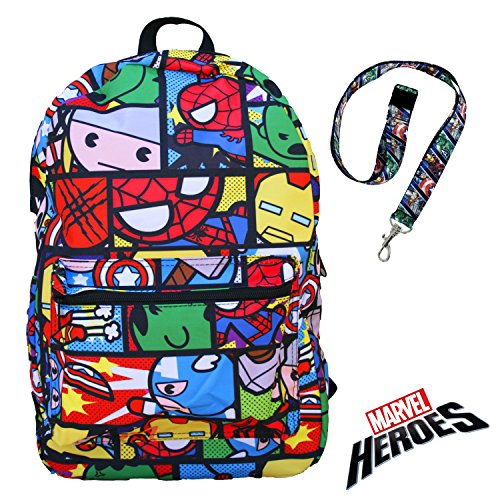 Marvel Girl History Costume (Marvel Heroes Kawaii Avengers Backpack with Lanyard Keychain)