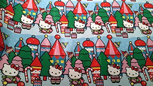 Christmas Wrapping Hello Kitty Holiday Paper Gift Greetings 1 Roll Design Festive Wrap Kitty Peppermint ()