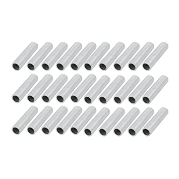 Uxcell 30 Pcs Metric M14 1mm Pitch Thread Zinc Plated Pipe Nipple Lamp  Parts 60mm Long