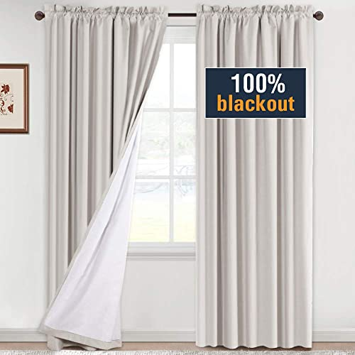 H.VERSAILTEX 100 Blackout Curtains 96 Inches Long Full Light Blocking Curtain Draperies
