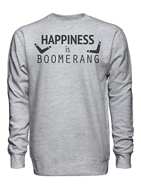 graphke Happiness Is Boomerang Sudadera Unisex XX-Large: Amazon.es: Ropa y accesorios