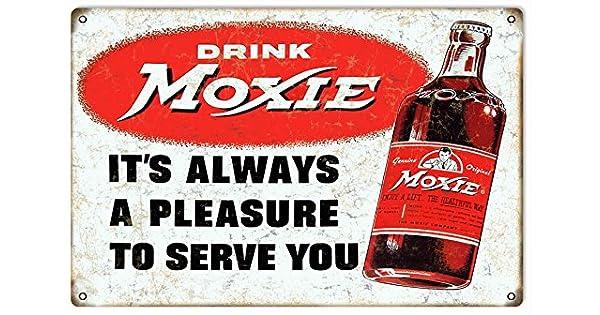 Amazon.com: Bebida Moxie – Soda nostálgico Publicidad Sign ...