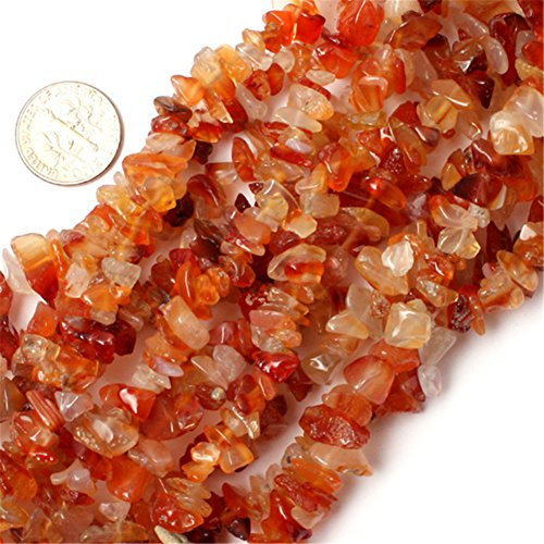Natural 6-8mm Red Carnelian Gravel Gemstone Chips Beads Freeform Orange Red 34 JOE FOREMAN