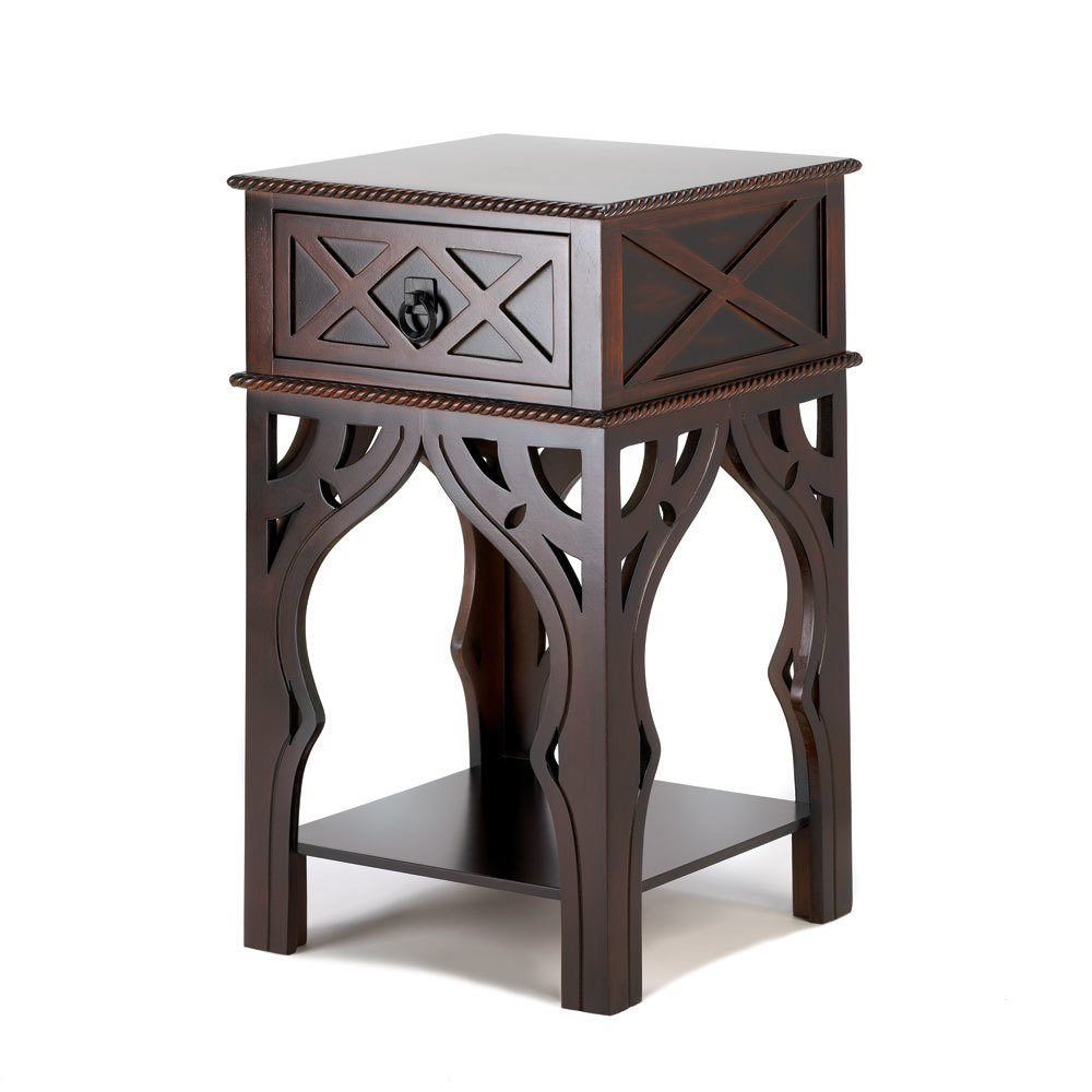 Moroccan-Style Side Table 15x15x25