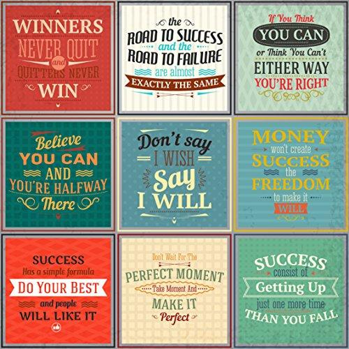 EzPosterPrints 9 Pieces Success Inspiration Quotes- Poster P